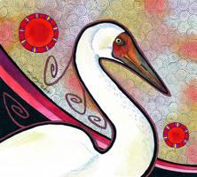 Siberian Crane as Totem by Ravenari