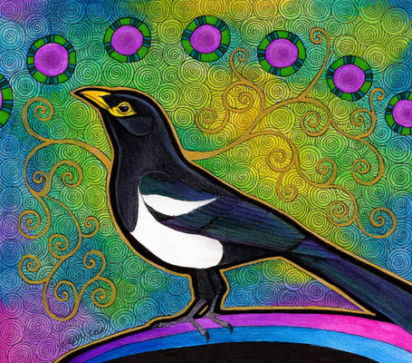 Yellow Billed Magpie as Totem