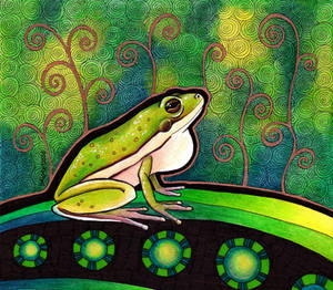 American Green Tree Frog as Totem