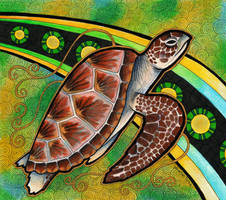 Green Sea Turtle as Totem