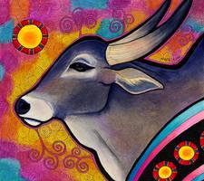 Amrit Mahal Cow as Animal Teacher