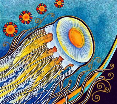 Egg Yolk Jellyfish as Animal Teacher