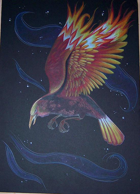 Raven as Firebird by Ravenari