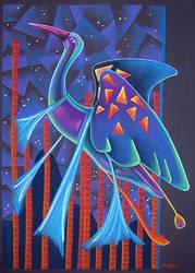 Escape - Blue Heron by Ravenari