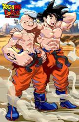 Dragon Ball+Popeye: World Breakers Goku and Popeye