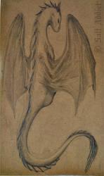 Dragon on Cardboard by SaltAddict