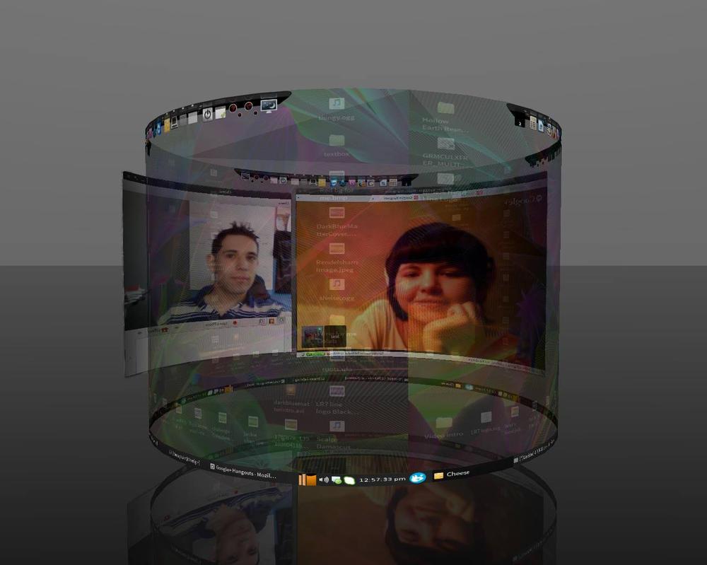 3D Desktop with Me and My Sleepyhead by LandRiders7th