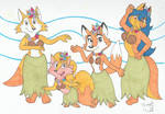 Art Trade: Foxy Luau