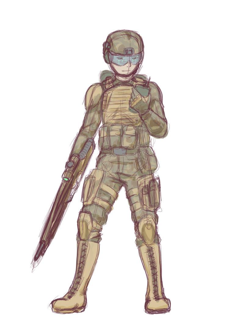 Advanced Soldier Draw it again WIP by NIGHT-TALON