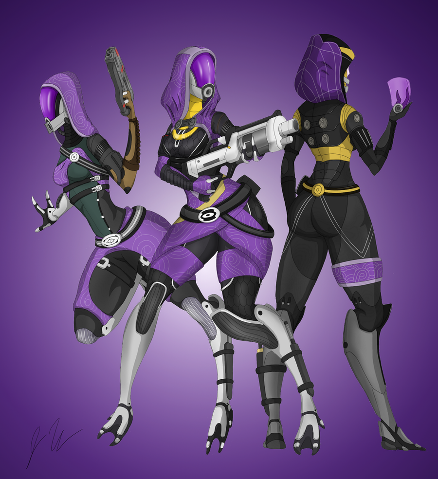 A tribute to Tali'Zorah by upshdragoon