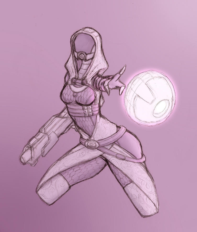 Tali colored sketch by upshdragoon
