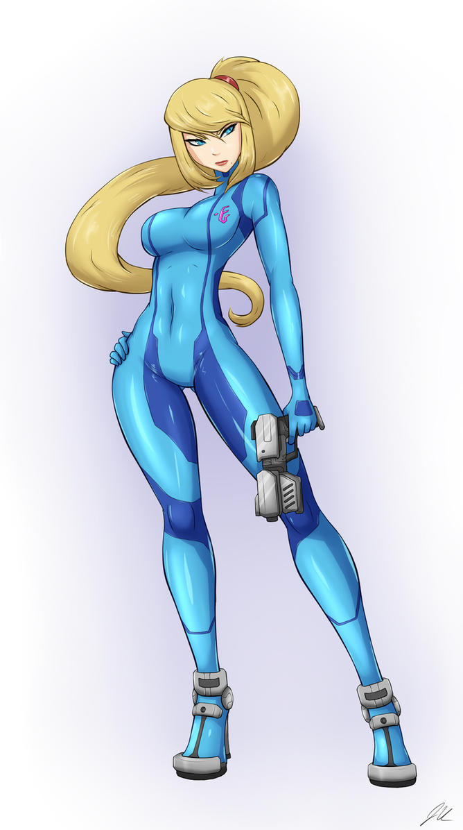 Samus Zero Suit by upshdragoon