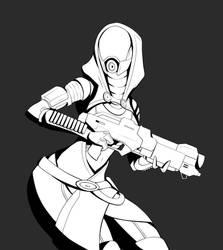 Inktober#1 Tali by upshdragoon