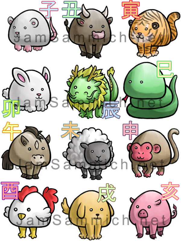 Chinese Zodiac by JammerLea
