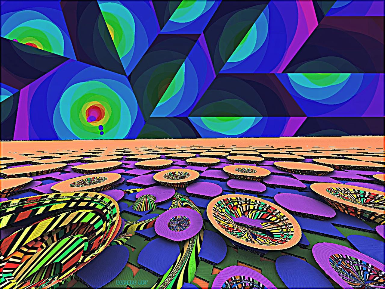 WATERLILIES  GARDEN by DorianoArt