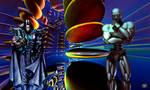 The Cyborg and Mercenaries Commander