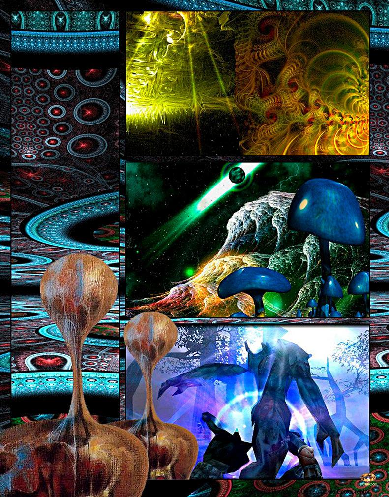 Under Alien Menace by DorianoArt