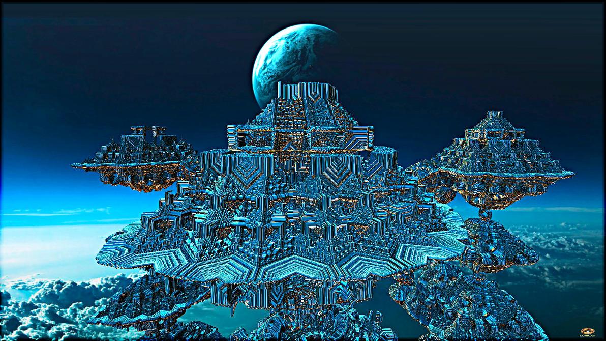 Moghul Dinasty - Flying Citadel by DorianoArt