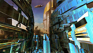 Future City Central Quarter by DorianoArt
