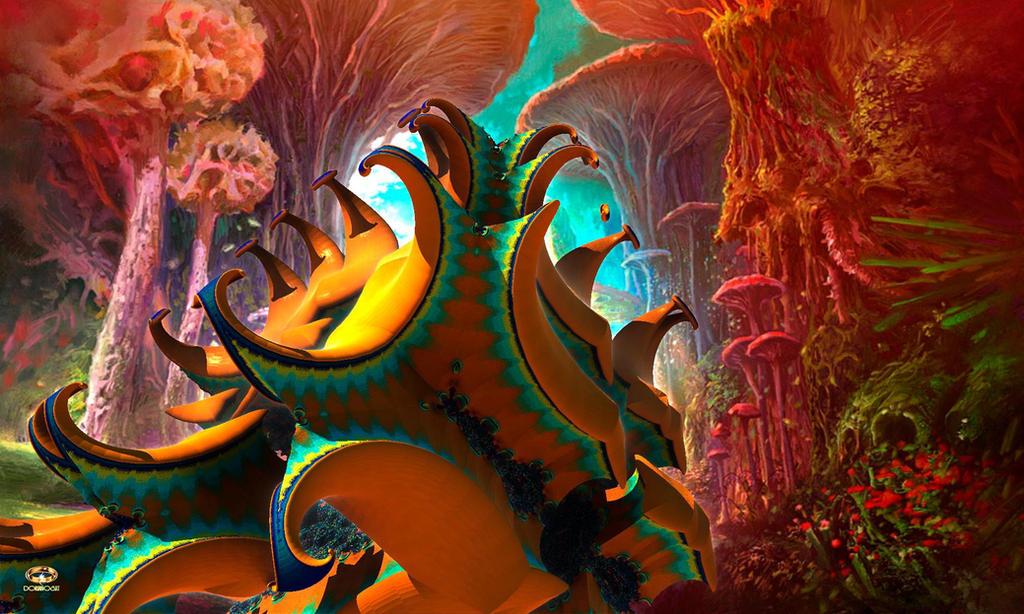 Alien Vegetation on Cybele by DorianoArt