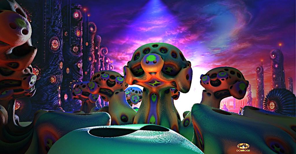 Magic Alien Realm by DorianoArt