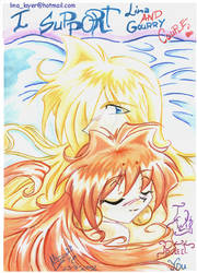 Lina and Gourry by AliciaDeAndres