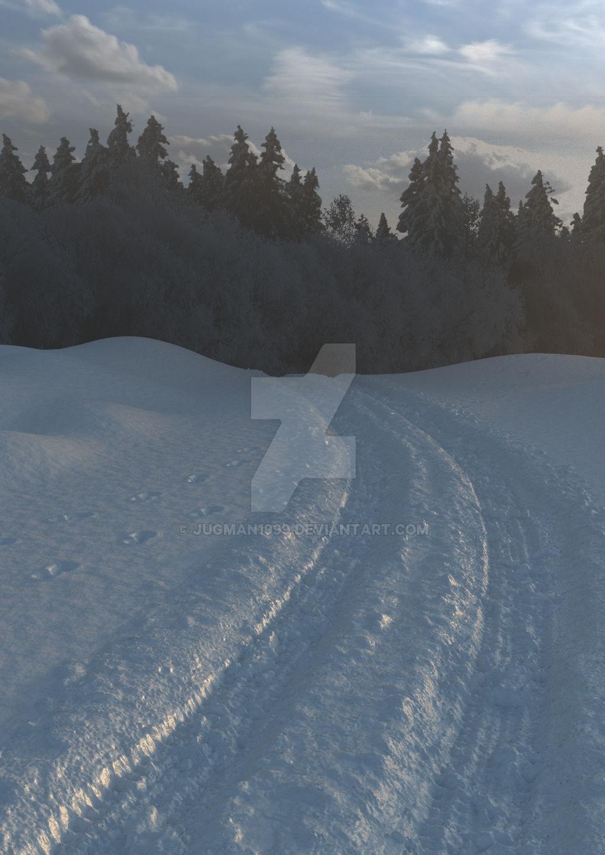 Snow scene for College Magazine (student run)