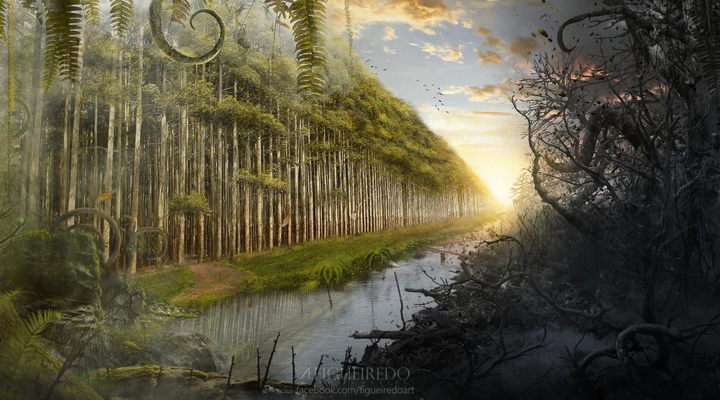 The Forbidden Forest. by Antonio-Figueiredo