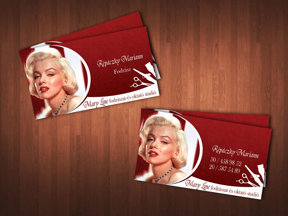 Monroe hairdresser business card by KungfuHamster on DeviantArt