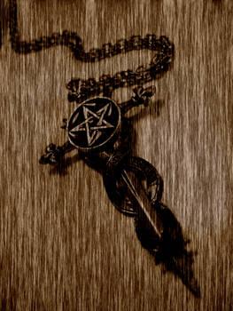 Pentagram and wood