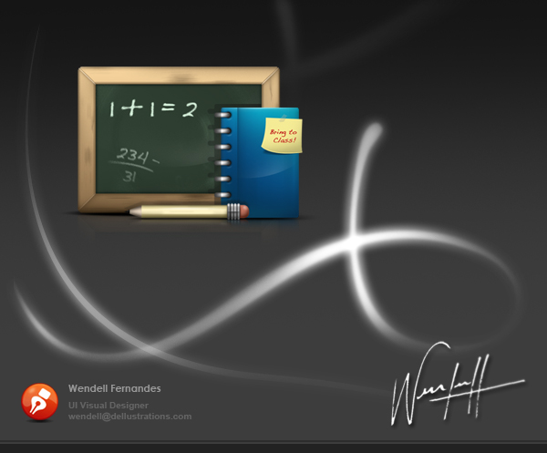 Chalk Board Icon 2 by dellustrations