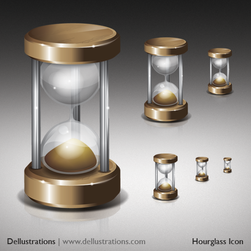 Hourglass Icon by dellustrations