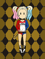 A little Harley Quinn... by scbored
