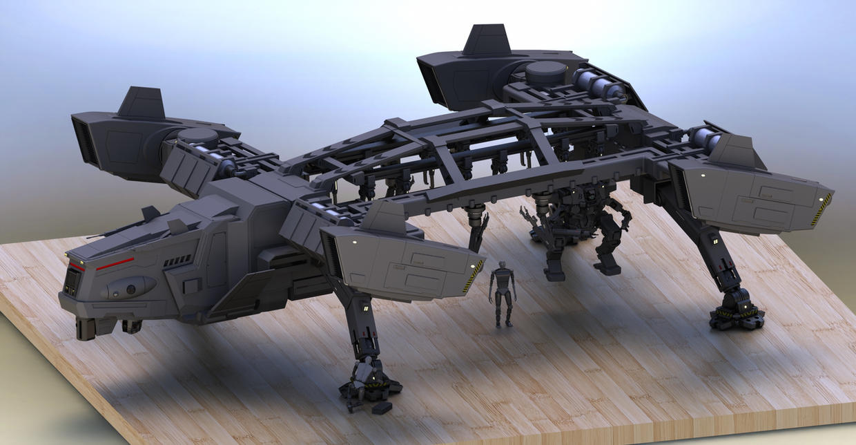 Ox Transporter w Repair Droid by Quesocito