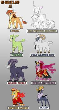 No Horse Land AU Character Names 1