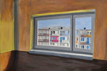 Landscape with window.