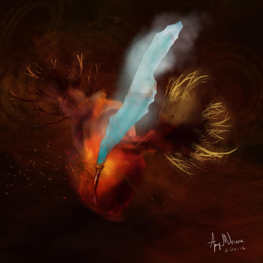 fire and ice heart - photo #29