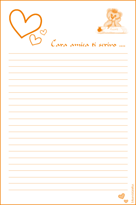 Carta da lettere orange by ideandografica on deviantart - Fogli da colorare stampabili gratuitamente ...