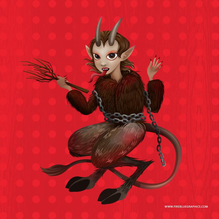 Krampus Doll by Firebluegraphics