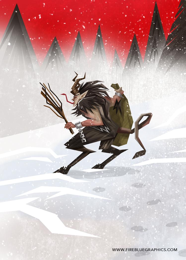 Krampus Snow by Firebluegraphics