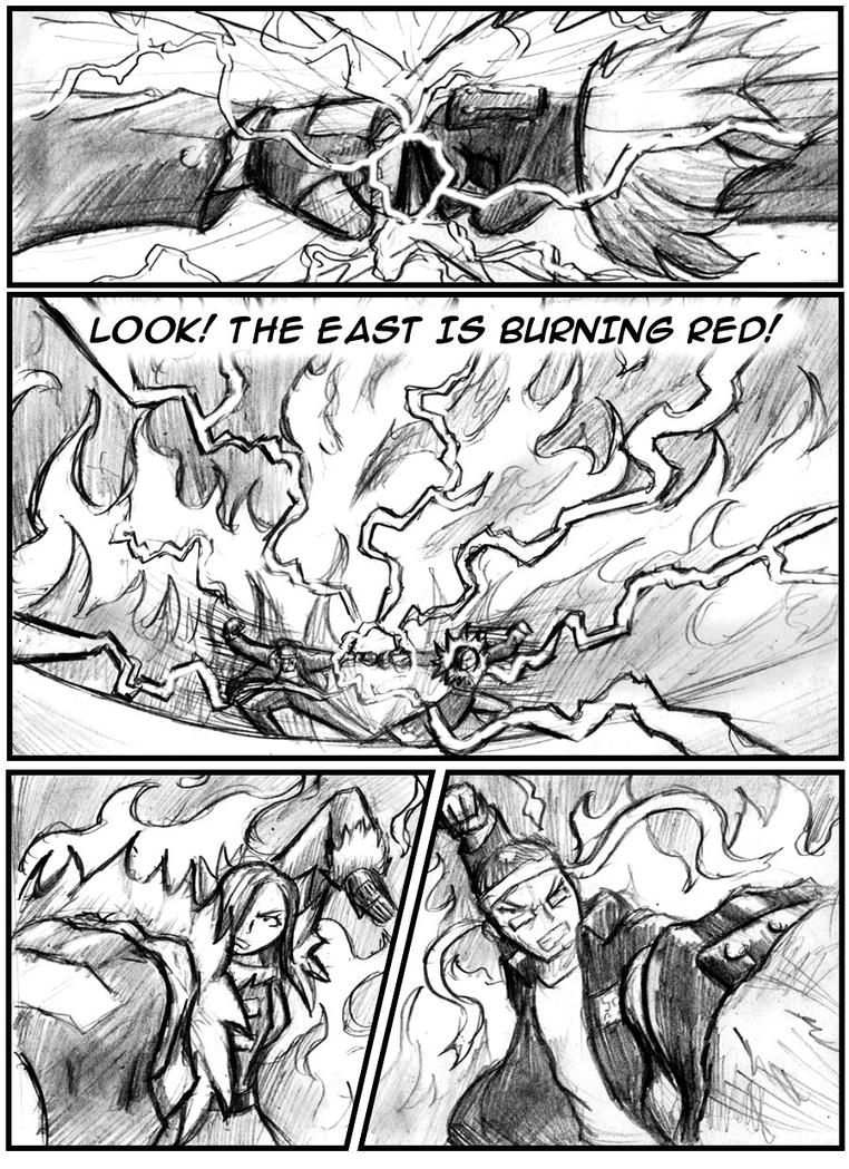 The east is burning red 02 by jihaus on deviantart for Domon man 2009