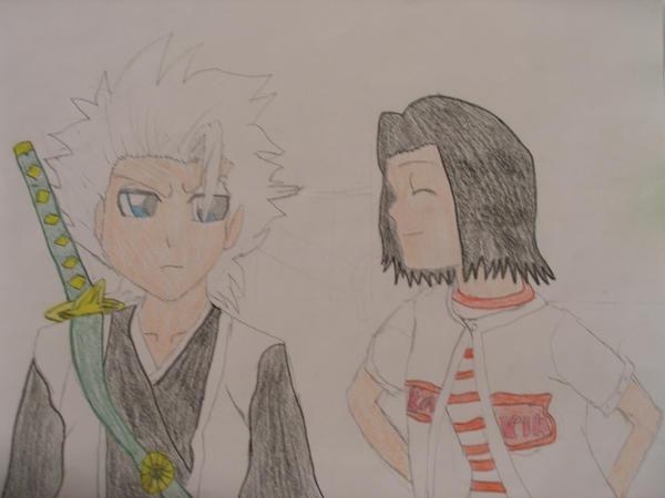 Hitsugaya and Karin by SamuraiArtist