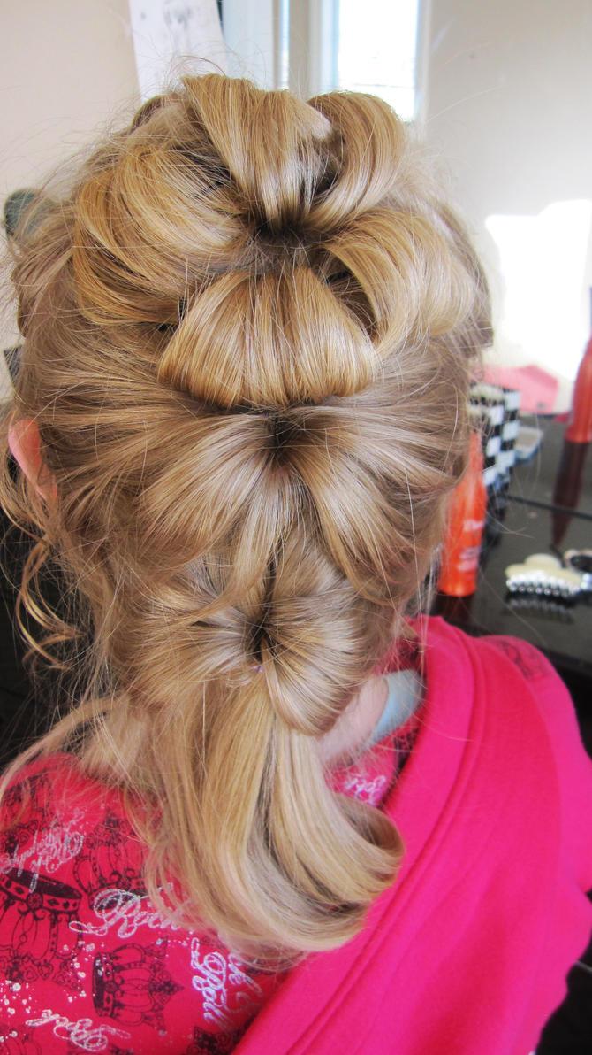 Как из волос сделать цветок на голове