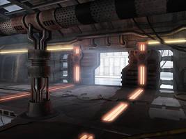 Sci-Fi Lab Corridor by Hawk17015
