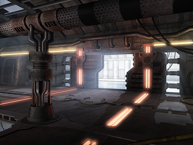Sci-Fi Lab Corridor by Hawk17015