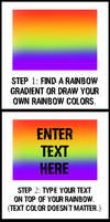 FireAlpaca: Rainbow Text tutorial