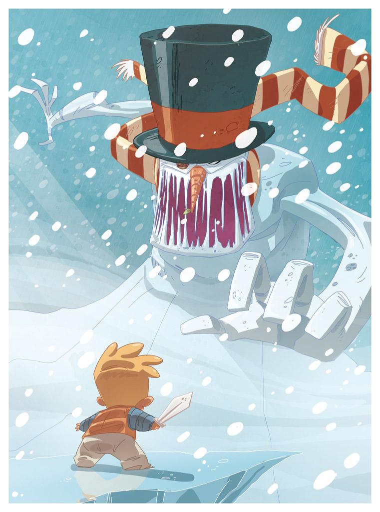 ice head illustration by scoppetta