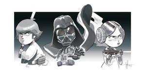 Star wars trio by scoppetta