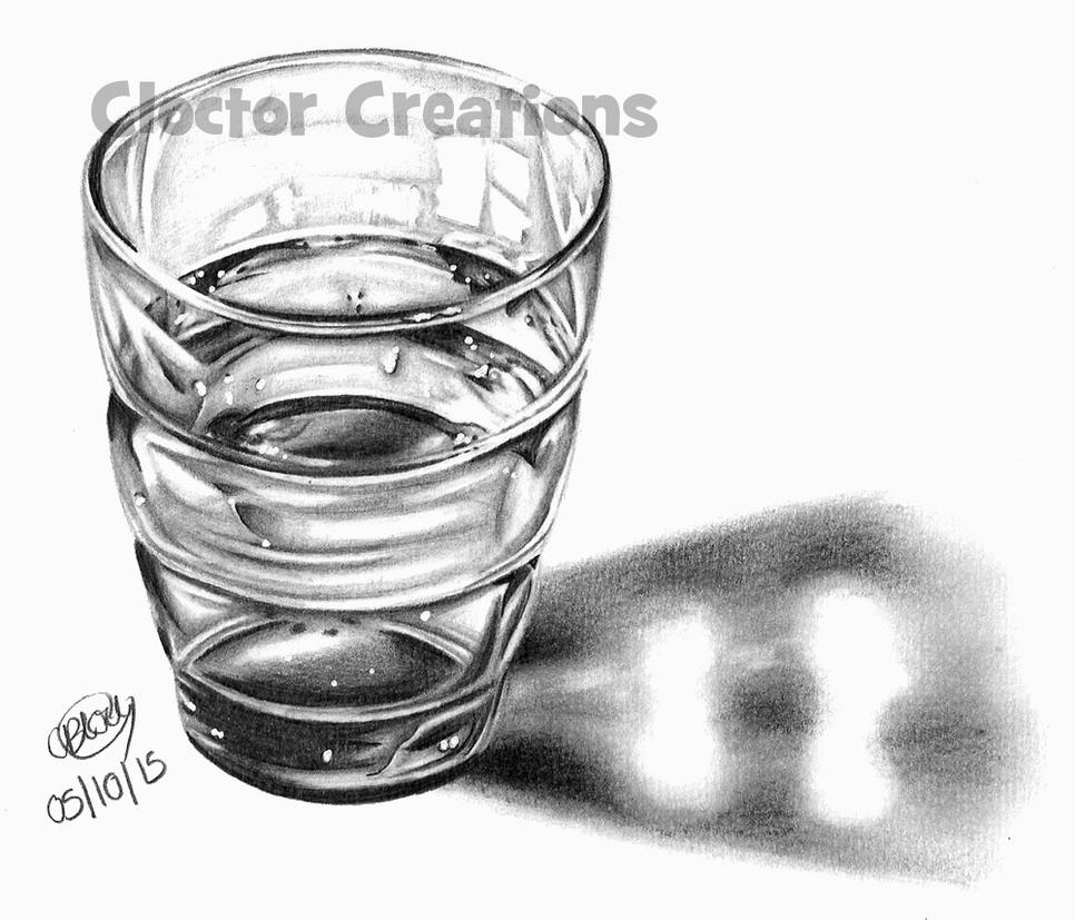 Glass of water by ItsCloctorArt