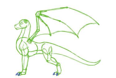 Free TLoS male adult dragon sketch